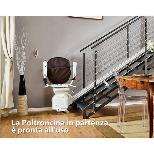 Montascale a poltroncina per scale dritte medicare verona for Montascale per disabili verona